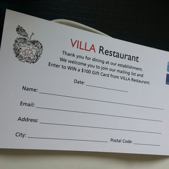 restaurant comment card template 55