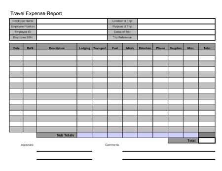 travel log template excel xlts