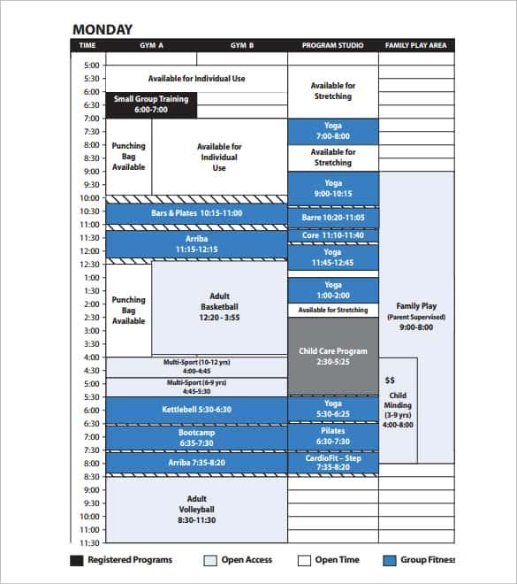 tv program schedule template 44